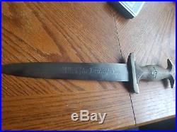 Rare German Sa Dagger Haco Berlin Early Original Authentic