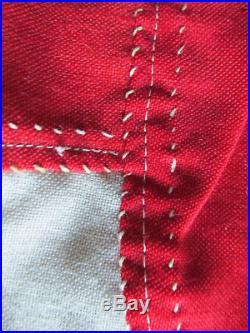 Rare Hand Sewn Original Navy Commander Japanese Flag w Rope WW1 WW2 Military USA