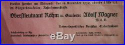 Rare Nazi Flyer for 1930 Munich talk by Ernst Röhm on Hitler