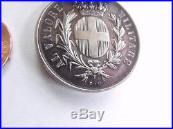 Rare Original Italy Al Valore Silver Militare Medal Spanish CIVIL War 1937