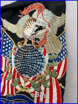Rare Pre WW1/Boxer Rebellion USMC Chinese Silk Banner