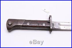 Rare Pre-WWII Polish M1922 Mauser Bayonet By Perkun With Scabbard