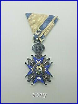 Rare Serbia Serbian Royal Order St Sava V class (Huguenin Switzerland)