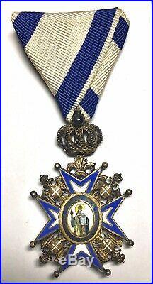 Rare Silver Serbia Serbian Royal Order St Sava 1921 Medal Russia