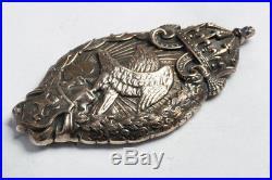 Rare WWI Royal Bulgaria Air Observer Badge. Silver, hallmarked. German made