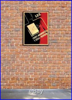 Read Anarchist Books! Libros Anarquýstas 1930s Spanish Civil War Poster 24x32