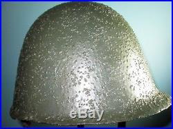 Restored Polish Ludwikow helmet stahlhelm casque casco salamandra camo ww