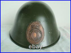 Romania Kingdom 1930's Issue King Carol II Combat Helmet. Rare! Vf+ Medal