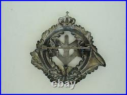 Romania Kingdom 1932 Officer's Mountain Troop Regiment Badge Medal. Very Rare