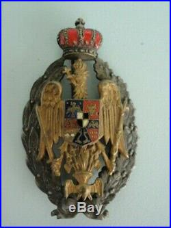 Romania Kingdom Academy Badge. Rare! Vf+