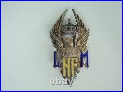 Romania Kingdom Nicolae Filipescu Badge 1st Grade Medal. 1st Type. Silver Rare