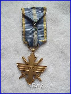 Romania Kingdom, ORDER of Aeronautical Virtues, Golden Cross with Swords in Box