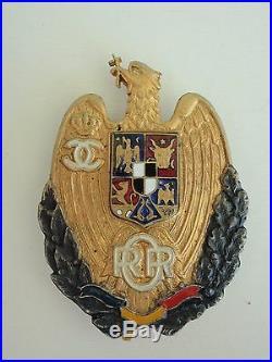 Romania Kingdom Officer In Reserve Badge Medal Silver/gilt. #532. Rare! Vf+