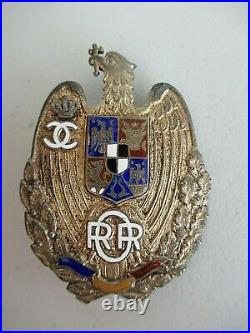 Romania Kingdom Officer In Reserve Badge Medal Silver/gilt. #55! Rare! Vf+