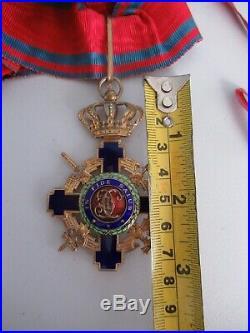 Romania Kingdom Star Order Commander Grade With Swords. Type 2. Rare! Ef
