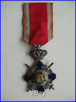 Romania Kingdom Star Order Knight Grade With Swords. Type 2. Cased. Rare! Vf+