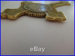 Russian Imperial Crimea War Priest Cross 1853-1856 Cross Medal. Gilt. Rare! Vf+