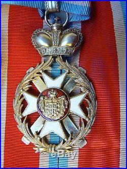 SERBIA, KINGDOM, ORDER OF TAKOVO, COMMANDER, 1900s, 3rd class, very rare