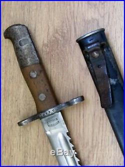 SWISS ARMY KNIFE Waffenfabrik Neuhausen Model 1914, BAYO, dagger, Sägebajonett