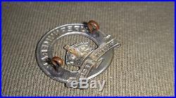 Scarce Original Authentic Supernumerary Palestine Police Ghaffir Cap Hat Badge