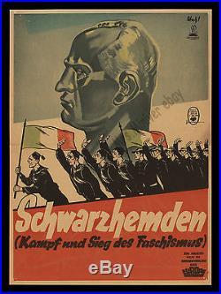 Schwarzhemden (Kampf und Sieg des Faschismus)1933 GERMAN Mussolini MOVIE POSTER