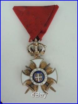 Serbia Order Of Karageorge 4th Class Rare! Vf+