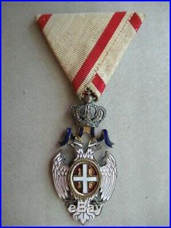 Serbia Order Of The White Eagle 5th Class. Rare! Vf+