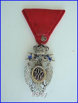 Serbia White Eagle Order With Swords 4th Class Rare