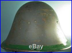 Signed original Dutch BB-reused M27 helmet casque stahlhelm casco elmo WW