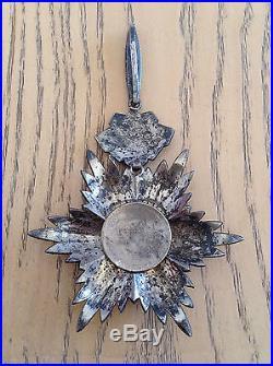 Silver Persian Order of Homayoun (Nishan-i-Homayoun). 2 class (Set). Persia