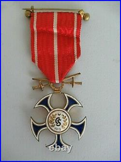 Slovakia Order Of The Falcon With Swords. Cased. Rare. Ef