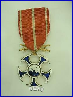 Slovakia Order Of The Falcon With Swords. Rare Vf+
