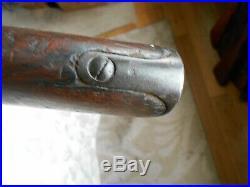 Spanish 1893 Mexican 1910 mauser rifle wood stock w handguard & some metal