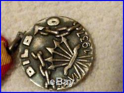 Spanish Civil War. 3 Medals Flechas Negras/Battaglione Beremo, Santander. Bilbao