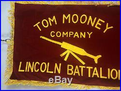Spanish Civil War Flag Tom Mooney Company Lincoln Battalion Reproduction