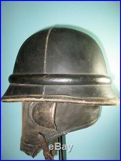 Splendid orig. Belgian M38 ABBL motor helmet casque Stahlhelm casco elmo