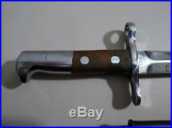 Swiss K31 Bayonet No serial # Elsener Schwyz