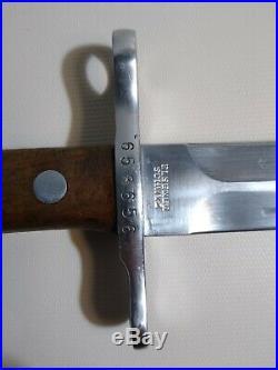 Swiss K31 Bayonet Serial # 658656 Elsener Schwyz