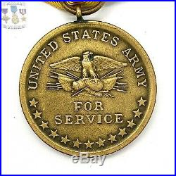 U. S. Army China Relief Expedition Medal Wrap Brooch Northern Stamp Co. 1930-40s