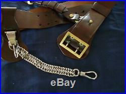 U. S. Officers Sam Brown Sword Belt Excellent