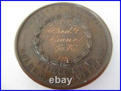 USA CIVIL War Era N. Y. Veteran's Medal. Named And Numbered #175. Cased. Rare