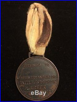 USMC China Marine Soochow Creek 37 Medal With Original Ribbon Rare