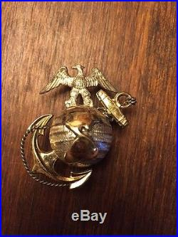 USMC EGA M1912 Dress Officer Cover Emblem
