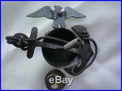 USMC Marine Corps Officer EGA Insignia Pin Hat Badge 1920 era Beast Insignia