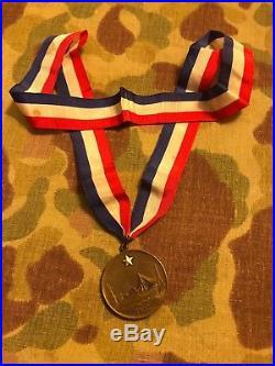 USMC WW1 Tiffany Gold Star Mother Pilgrimage Medal Original Box And Ribbon Rare