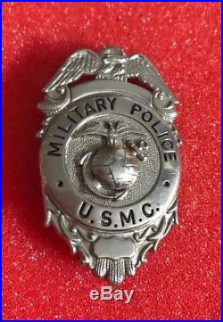 USMC WW2 Post WW11 Original Obsolete Marine Corps Military Police Badge
