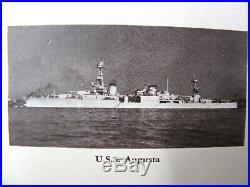 USS AUGUSTA CA-31 UNDER FIRE Sino Japanese 1937 1938 Shanghai Cruise Book PANAY