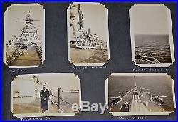 USS Pennsylvania Album, USN battleship, exceptional & rare vintage photos