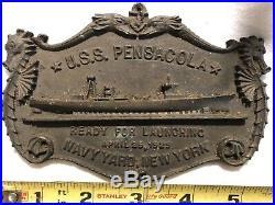 USS Pensacola Commissioning Plaque