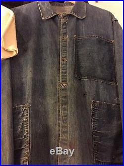 Usmc 30s Denim Prewar Work Jkt. 3 Pkt. Salty But Wearable! Amazingly Rare! M-l